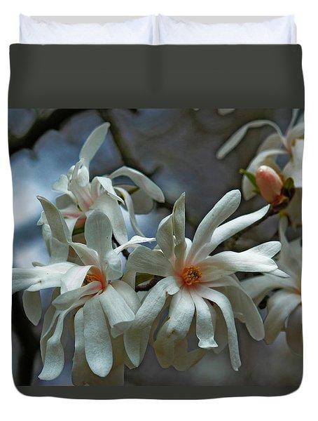 Duvet Cover featuring the photograph White Magnolia by Rowana Ray
