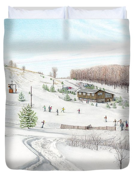 White Mountain Resort Duvet Cover by Albert Puskaric
