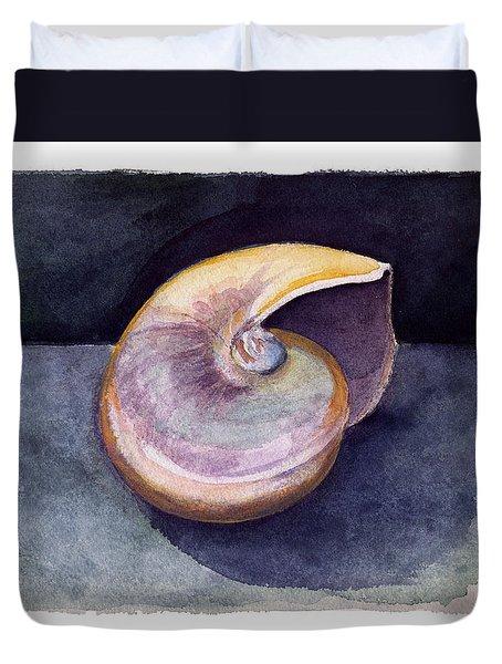 White Nautilus Duvet Cover
