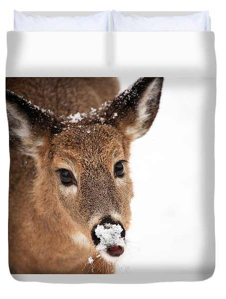 White On The Nose Duvet Cover