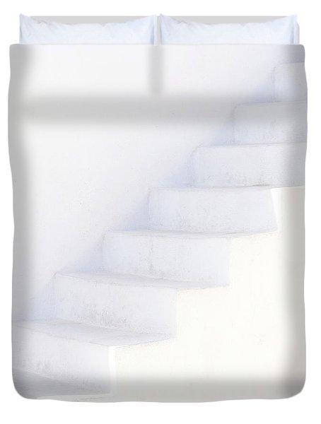 White On White Duvet Cover by Lisa Parrish