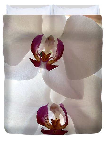 White Orchid Duvet Cover