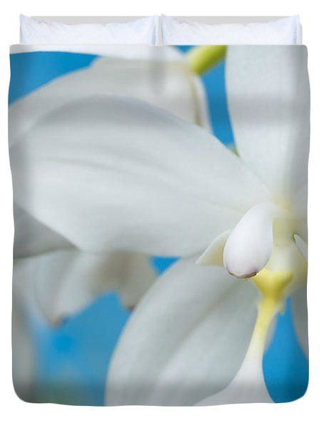 White Orchid Duvet Cover by Leigh Anne Meeks