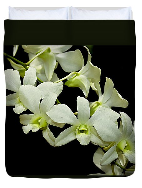 White Orchids Duvet Cover