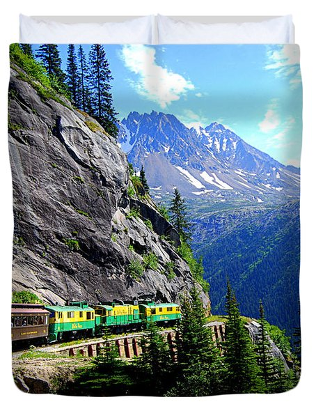 White Pass And Yukon Route Railway In Canada Duvet Cover by Catherine Sherman
