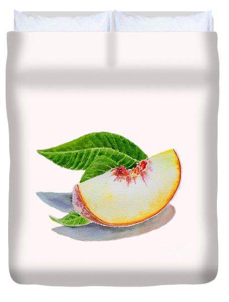 White Peach Slice  Duvet Cover