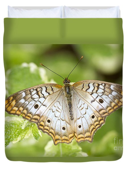 White Peacock Duvet Cover by Bryan Keil