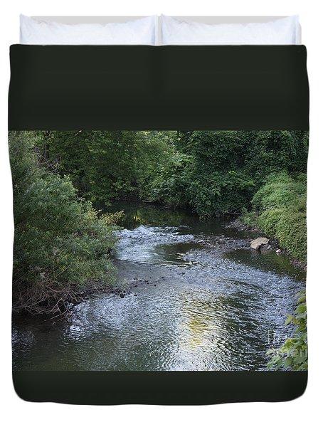White Plains Stream Duvet Cover by John Telfer