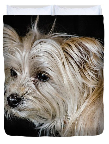 White Puppy Duvet Cover