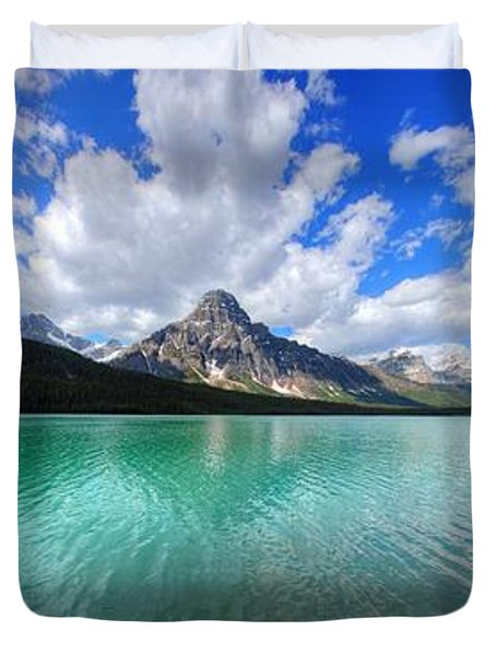 Duvet Cover featuring the photograph White Pyramid by David Andersen