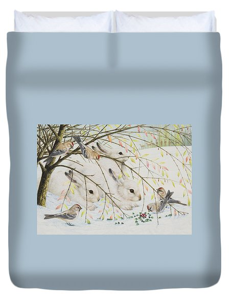 White Rabbits Duvet Cover