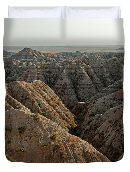 White River Valley Overlook Badlands National Park Duvet Cover