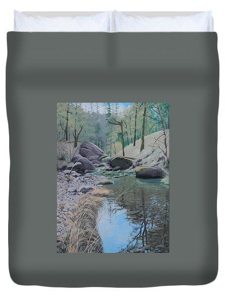 White Rock Creek Duvet Cover