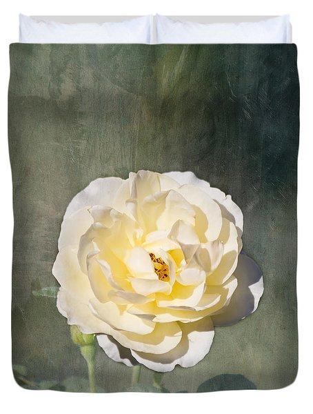 White Rose Duvet Cover by Kim Hojnacki