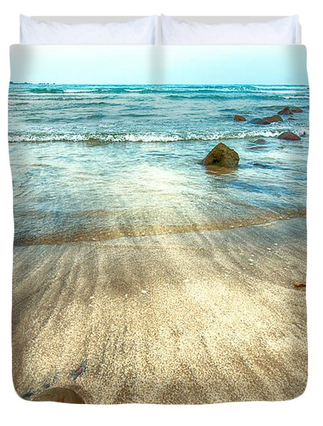 White Sand Beach Duvet Cover