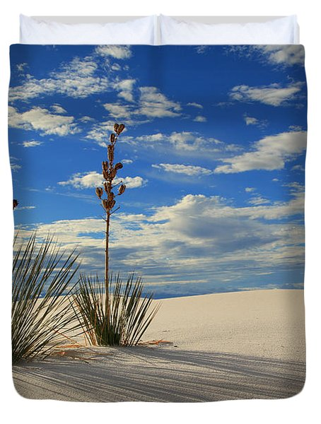 White Sands Afternoon 2 Duvet Cover by Alan Vance Ley