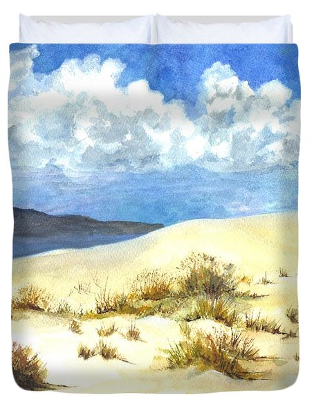 White Sands New Mexico U S A Duvet Cover by Carol Wisniewski