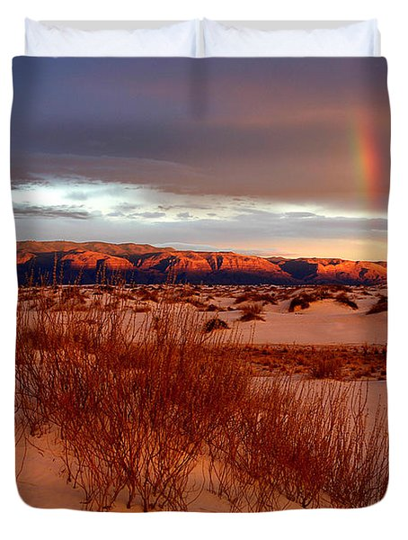 Duvet Cover featuring the photograph White Sands Sunset by Christopher McKenzie