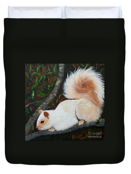 White Squirrel Of Sooke Duvet Cover
