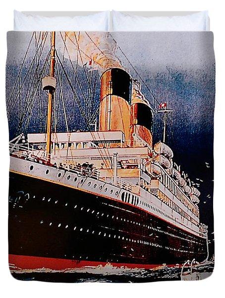 White Star Line Poster 1 Duvet Cover