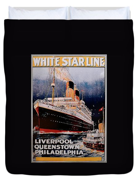 White Star Line Poster 1 Duvet Cover