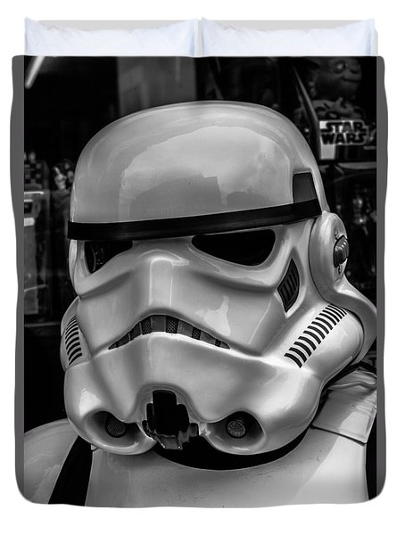 White Stormtrooper Duvet Cover by David Doyle