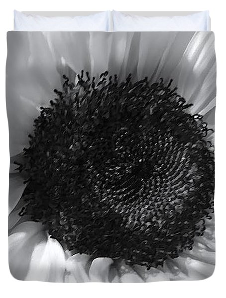 Duvet Cover featuring the photograph White Sunflower by Jeannie Rhode