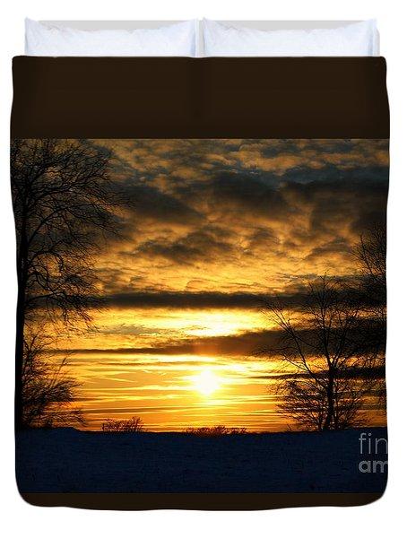 White Sunset Duvet Cover