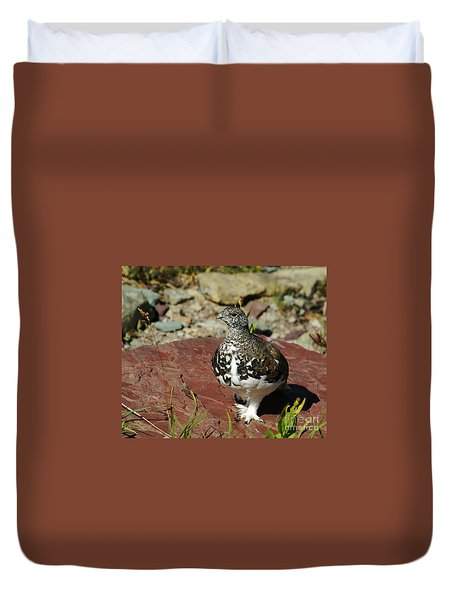 White-tailed Ptarmigan Duvet Cover
