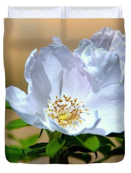 White Tea Rose Duvet Cover