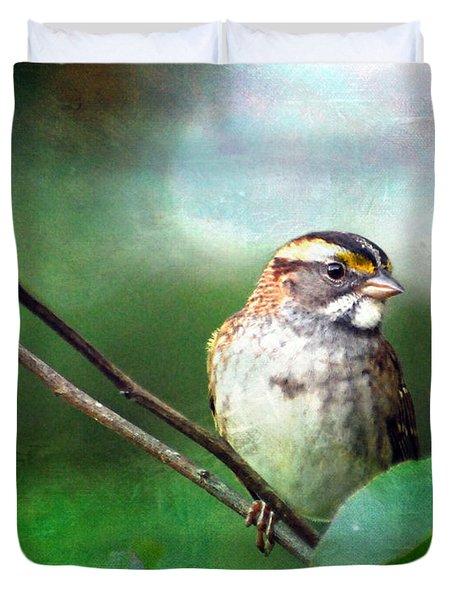 White-throated Sparrow Duvet Cover