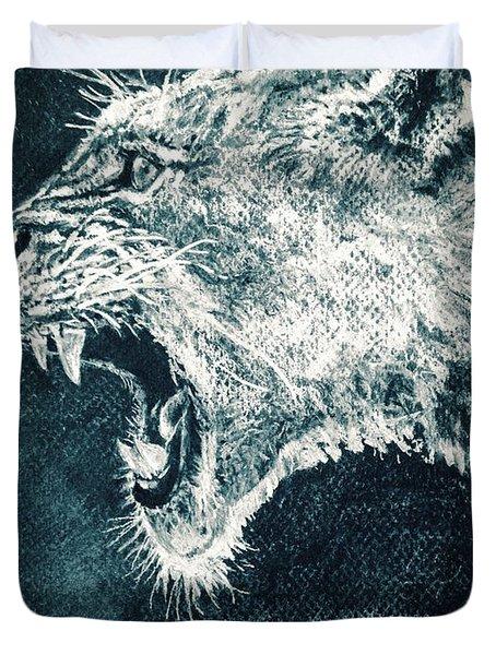 Leon Portrait Duvet Cover