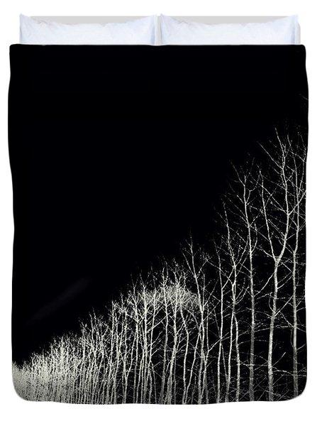 White Trees Duvet Cover