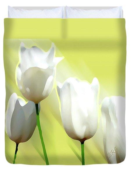 White Tulips Duvet Cover by Ben and Raisa Gertsberg