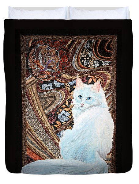 White Turkish Angora Duvet Cover