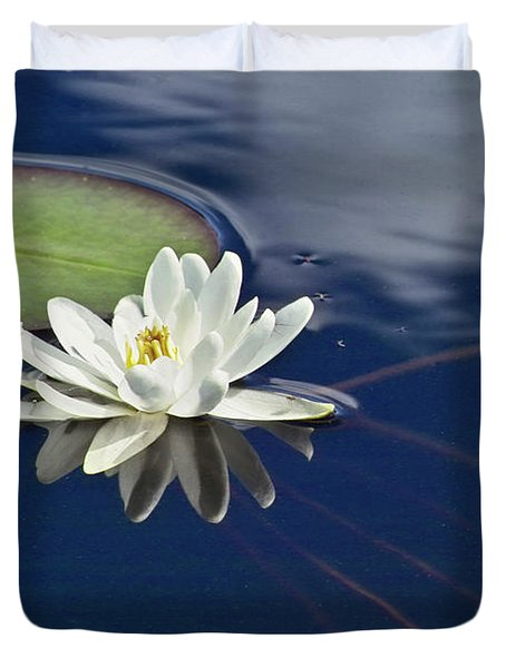 White Water Lily Duvet Cover by Heiko Koehrer-Wagner