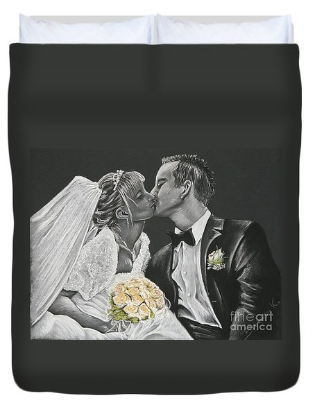 White Wedding Duvet Cover by Katharina Filus