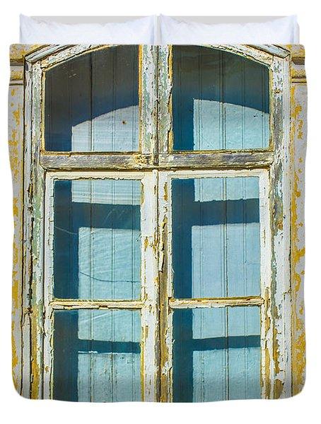 White Window Duvet Cover