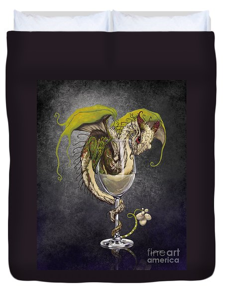 White Wine Dragon Duvet Cover