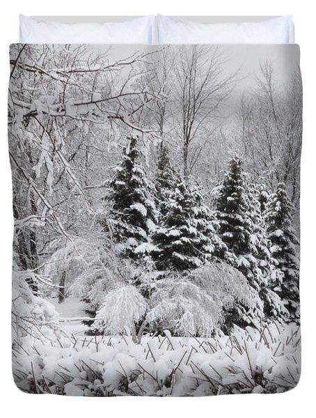 White Winter Day Duvet Cover