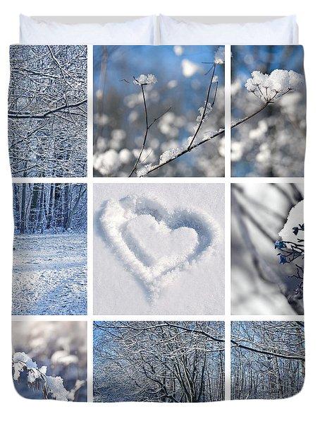 White Winter Duvet Cover
