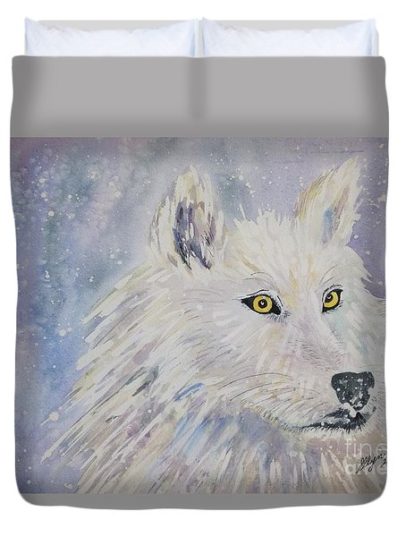 White Wolf Of The North Winds Duvet Cover