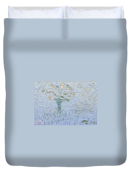 White World Duvet Cover by Augusta Stylianou