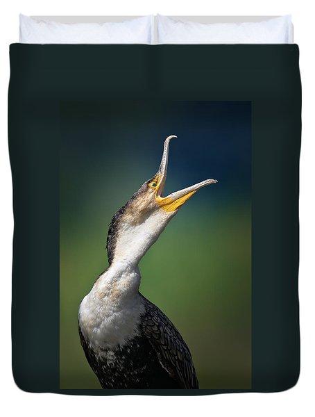Whitebreasted Cormorant Duvet Cover