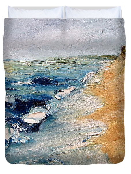 Whitecaps On Lake Michigan 3.0 Duvet Cover