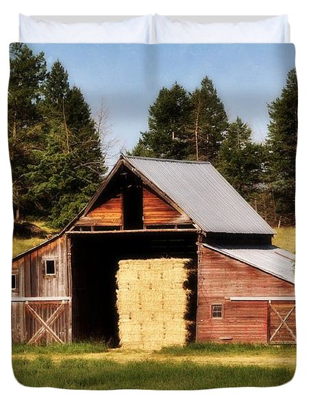 Whitefish Barn Duvet Cover by Marty Koch