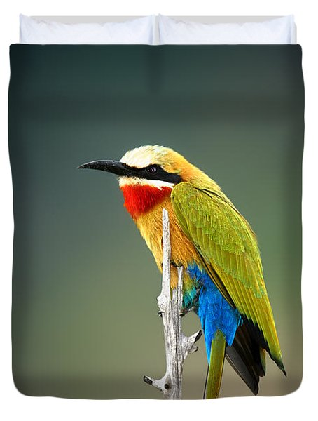 Whitefronted Bee-eater Duvet Cover