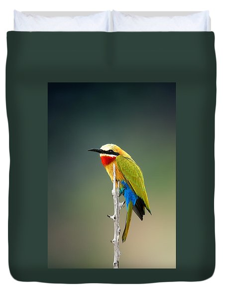 Whitefronted Bee-eater Duvet Cover by Johan Swanepoel