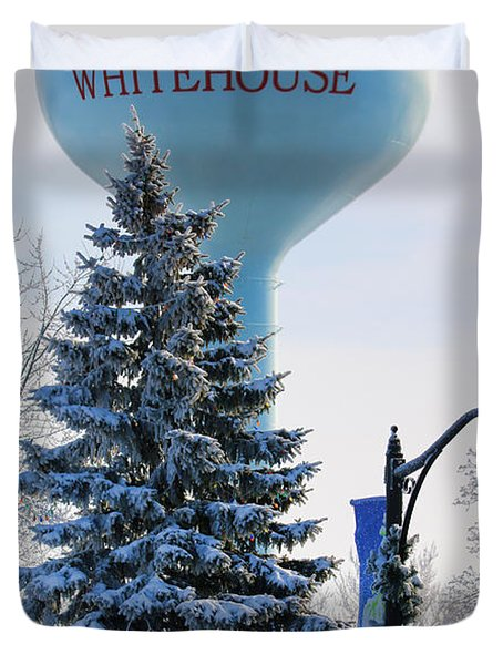 Whitehouse Water Tower  7361 Duvet Cover by Jack Schultz