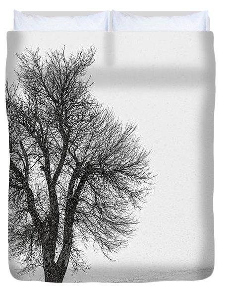 Whiteout Duvet Cover by Chris Austin